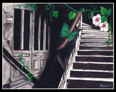 Pintura de acuarela inspiradas en un fotografía