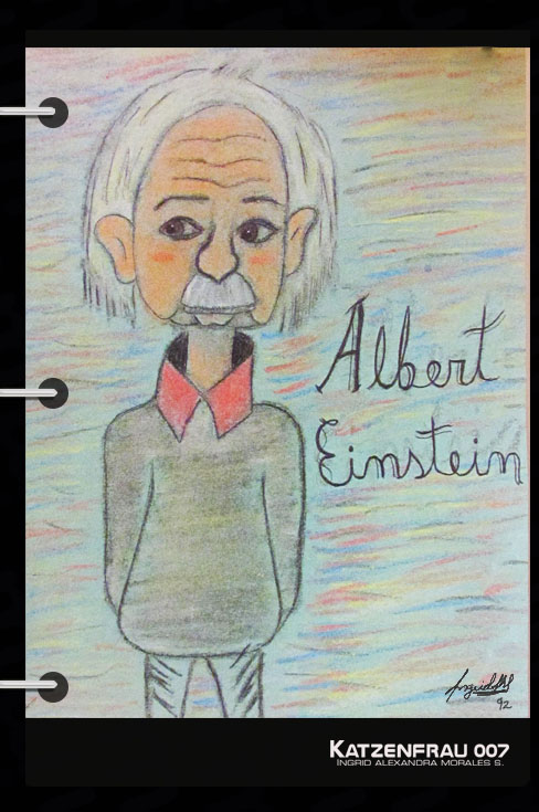 Ilustración Albert Einstein post