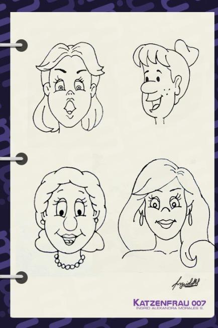 caricaturas femeninas