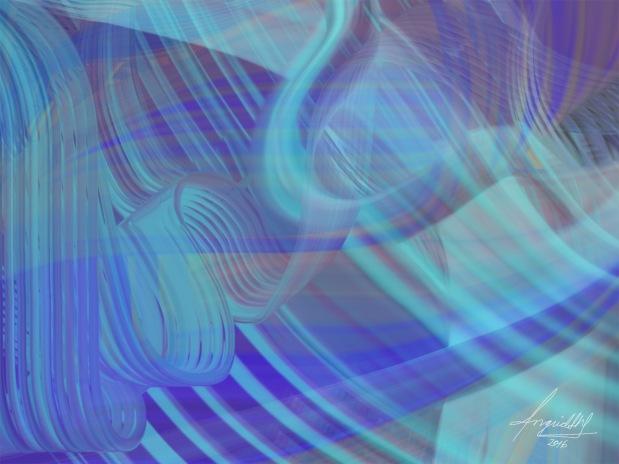 Medios mixtos - Neon -pintura abstracta - Ingrid Alexandra