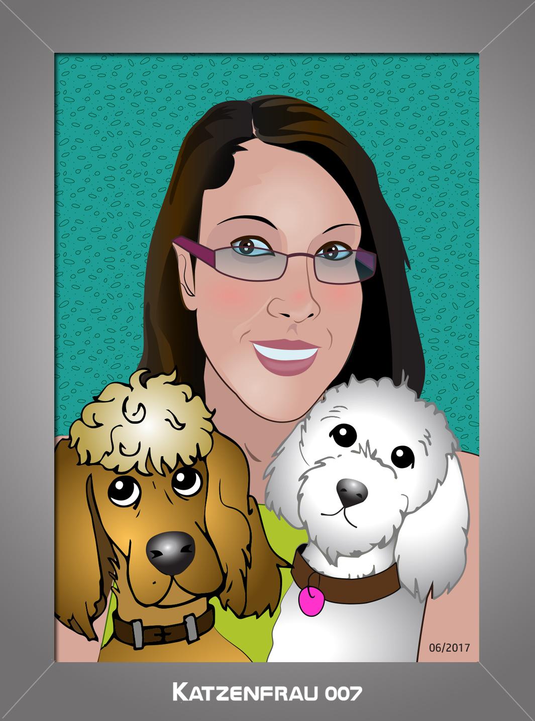 Happy family illustrated by Ingrid Steele (Katzenfrau007)