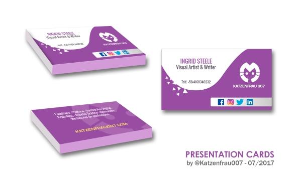 Tarjetas de presentación, presentation cards by Ingrid Alexandra - Ingrid Steele