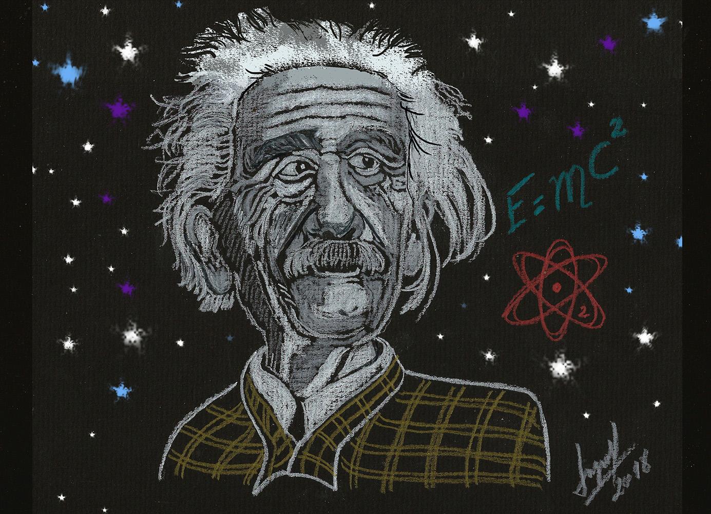 Albert Einstein con marco2 2018 8baja resolucion