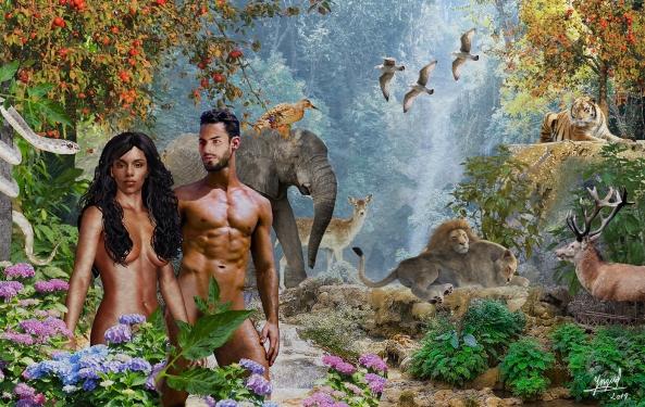Adán y Eva - El edén low
